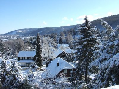 Ausblick vom Haus im Winter