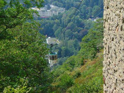 Seilbahn auf den Burgberg