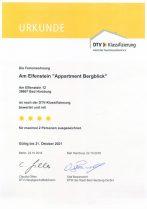 """Zertifizierung """"Bergblick"""" ****"""