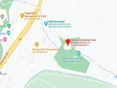 Baumwipfelpfad Karte